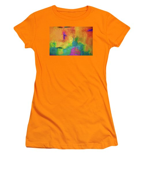 Color Abstraction Xxxiv Women's T-Shirt (Athletic Fit)