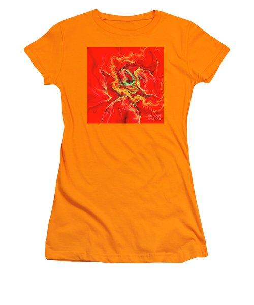 Women's T-Shirt (Junior Cut) featuring the digital art Color Blast by Deborah Benoit