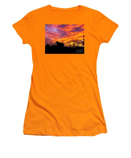 Color In The Sky Women's T-Shirt (Athletic Fit)