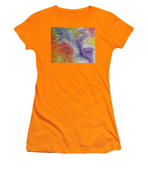 Women's T-Shirt (Junior Cut) featuring the drawing Color Spirit by Marat Essex