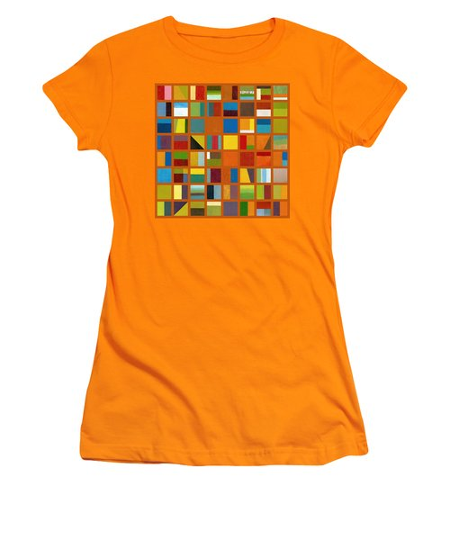 Color Study Collage 66 Women's T-Shirt (Athletic Fit)
