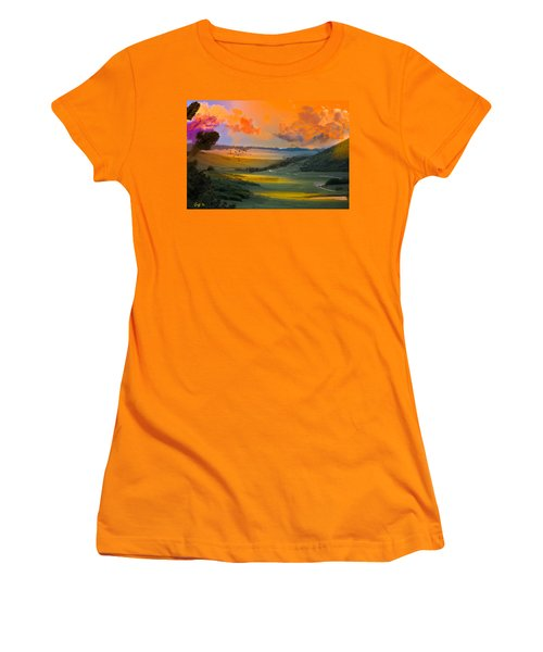Colorado Big Valley Sunrise Women's T-Shirt (Athletic Fit)