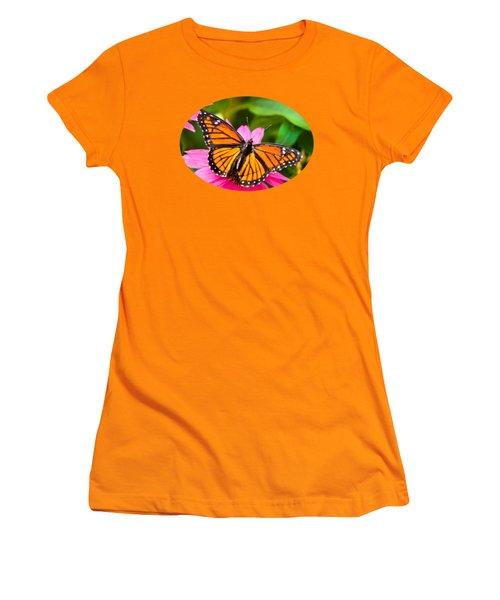 Colorful Butterflies - Orange Viceroy Butterfly Women's T-Shirt (Junior Cut)