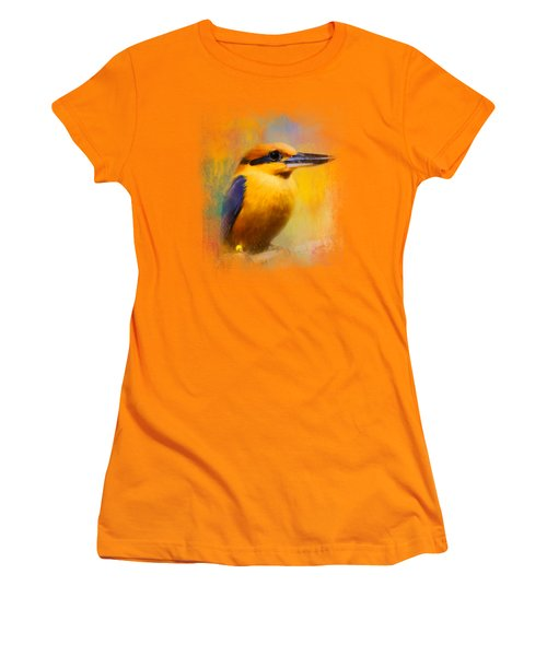 Colorful Expressions Kingfisher Women's T-Shirt (Junior Cut) by Jai Johnson