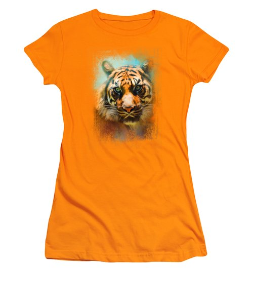 Colorful Expressions Tiger 2 Women's T-Shirt (Junior Cut) by Jai Johnson
