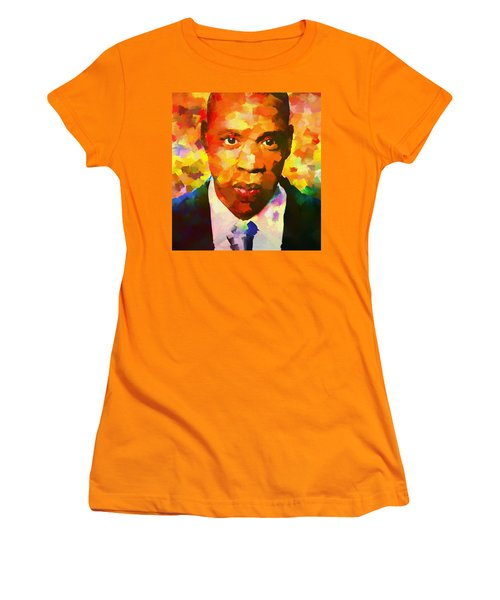 Colorful Jay Z Palette Knife Women's T-Shirt (Athletic Fit)