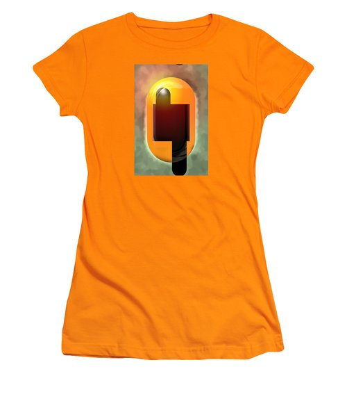 Women's T-Shirt (Junior Cut) featuring the painting Continuity by Mario Carini