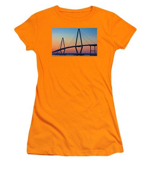 Cooper River Bridge Sunset Women's T-Shirt (Athletic Fit)