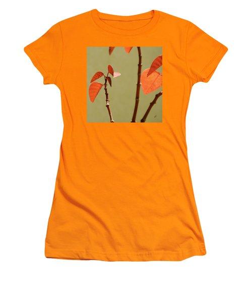 Women's T-Shirt (Junior Cut) featuring the photograph Copper Plant 2 by Ben and Raisa Gertsberg