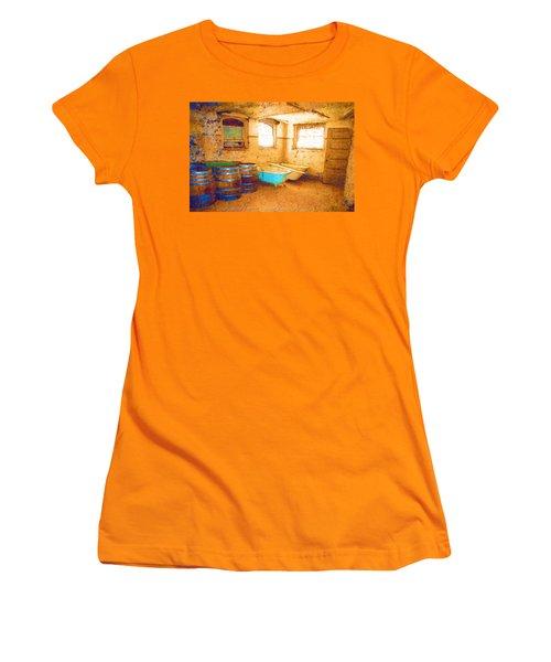 Women's T-Shirt (Junior Cut) featuring the digital art Cornered by Holly Ethan