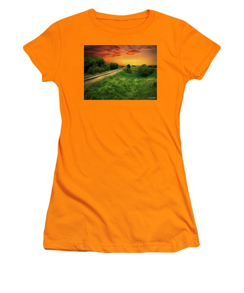 Country Tracks 2 Women's T-Shirt (Athletic Fit)