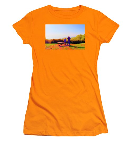 Couple Views Women's T-Shirt (Athletic Fit)