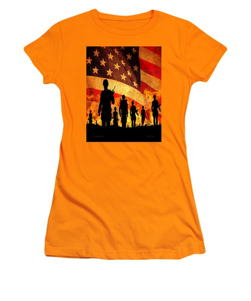 Courage Under Fire Women's T-Shirt (Athletic Fit)