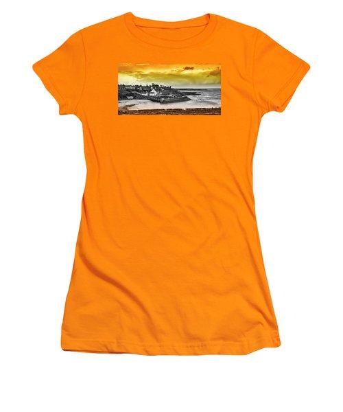 Crail Harbour Women's T-Shirt (Junior Cut) by Jeremy Lavender Photography