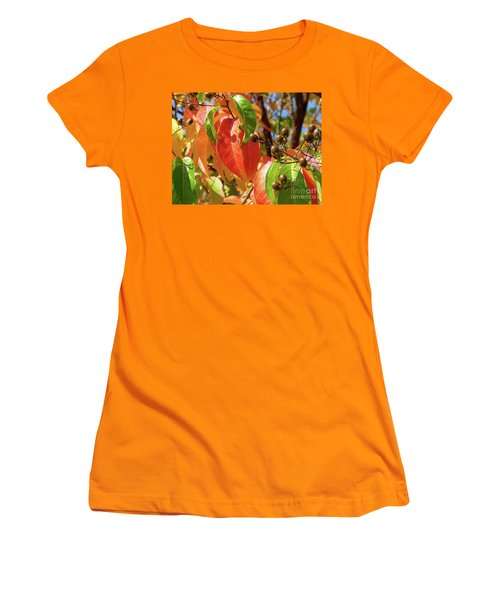 Crepe Myrtle Autumn Color Women's T-Shirt (Athletic Fit)