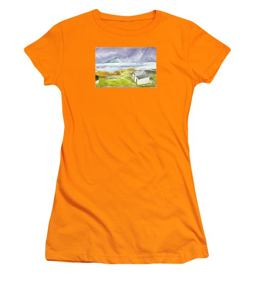 Croagh Patrick And Purple Sky Women's T-Shirt (Athletic Fit)
