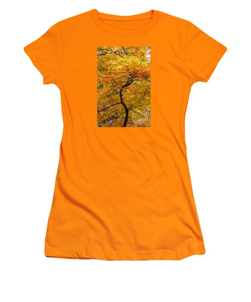 Women's T-Shirt (Junior Cut) featuring the photograph Crooked Tree Trunk by Barbara Bowen