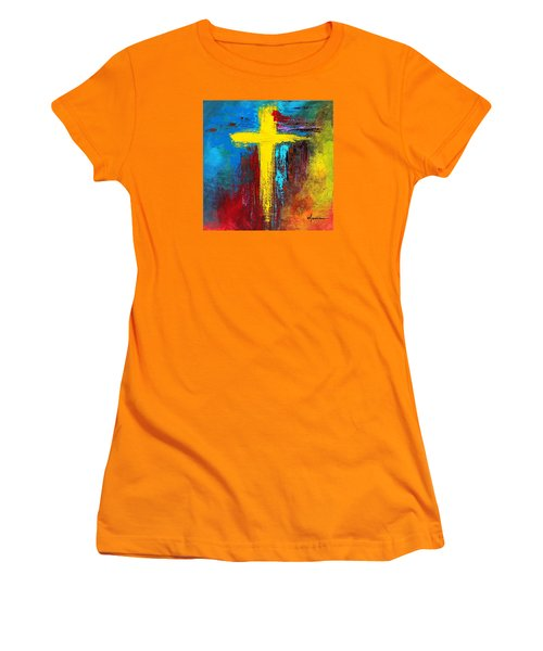 Cross 2 Women's T-Shirt (Junior Cut) by Kume Bryant