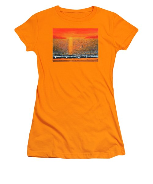 Crossing Over Women's T-Shirt (Junior Cut) by Thomas Blood