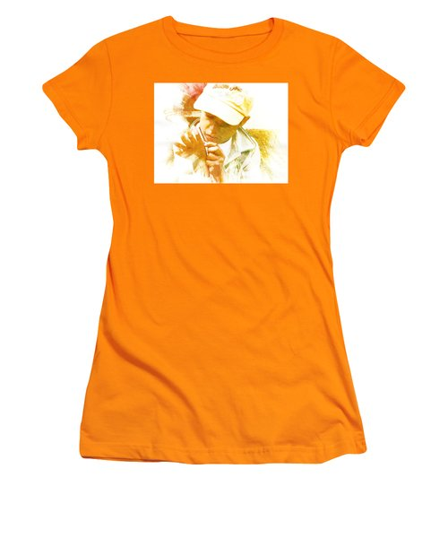 Women's T-Shirt (Junior Cut) featuring the photograph Cuenca Kid 902 - Adinea by Al Bourassa