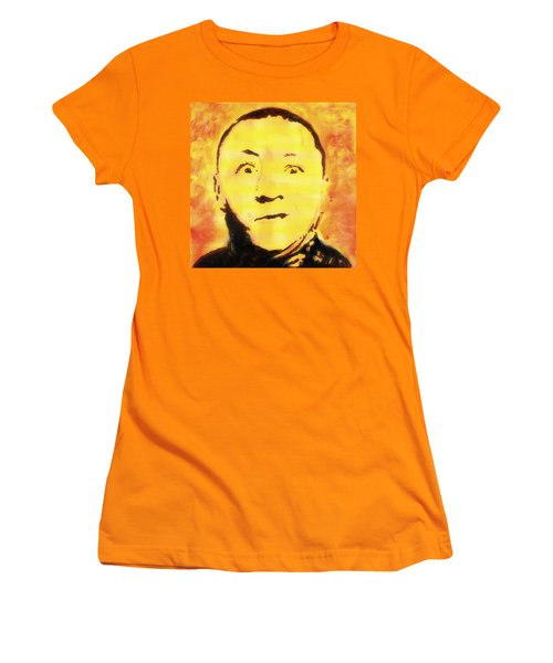 Curly Howard Three Stooges Pop Art Women's T-Shirt (Athletic Fit)