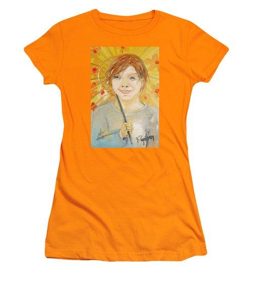Cuz I'm Happy Women's T-Shirt (Junior Cut) by Evelina Popilian