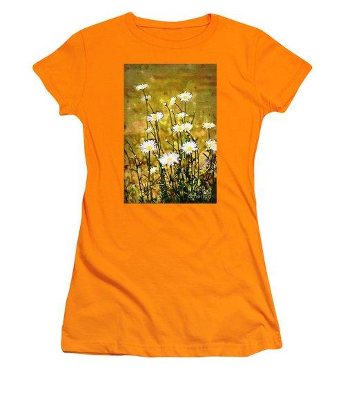 Women's T-Shirt (Junior Cut) featuring the photograph Daisy Field by Donna Bentley