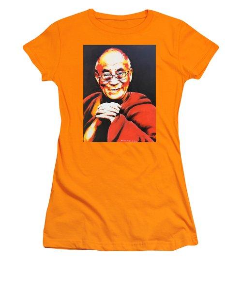 Dalai Lama Women's T-Shirt (Junior Cut) by Victor Minca