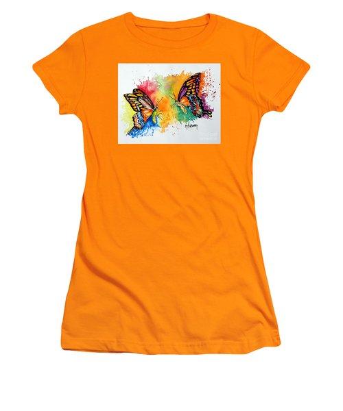 Dance Of The Butterflies Women's T-Shirt (Junior Cut) by Maria Barry