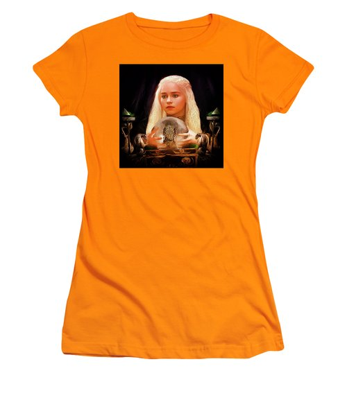 Women's T-Shirt (Junior Cut) featuring the painting Dany by Michael Cleere