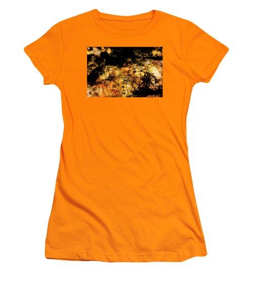 Dark Ferris Wheel Women's T-Shirt (Athletic Fit)