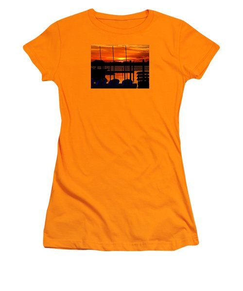 Women's T-Shirt (Junior Cut) featuring the photograph Day Is Done by Laura Ragland