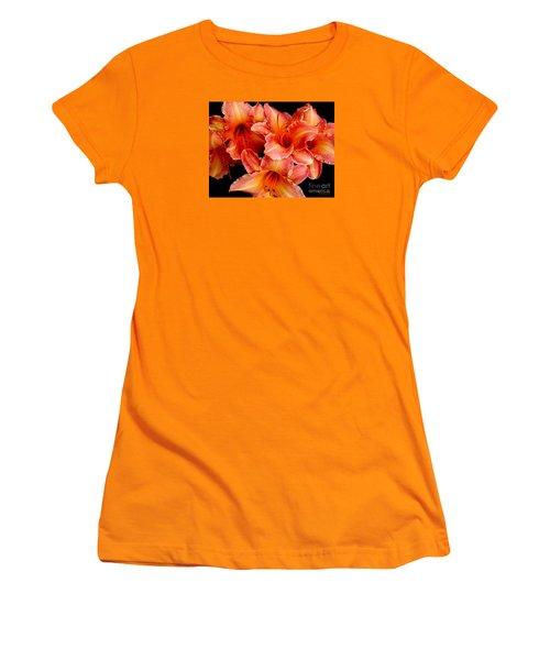 Daylilies 1 Women's T-Shirt (Junior Cut) by Rose Santuci-Sofranko