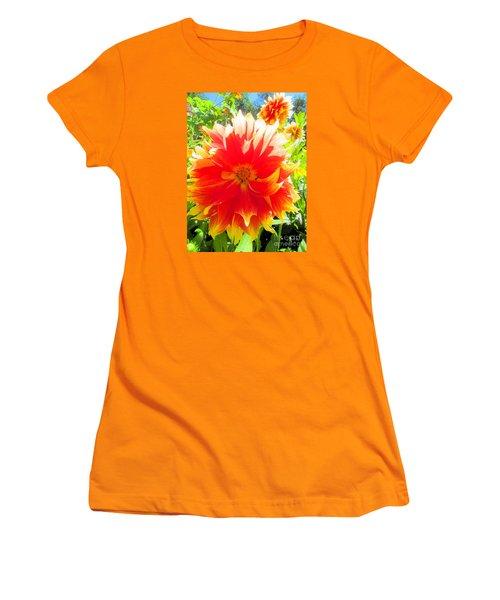 Dazzling Dahlia Women's T-Shirt (Junior Cut) by Elizabeth Dow
