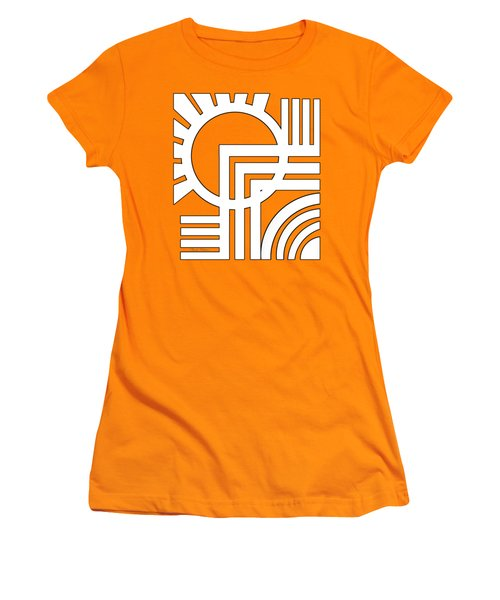 Deco Design White Women's T-Shirt (Athletic Fit)