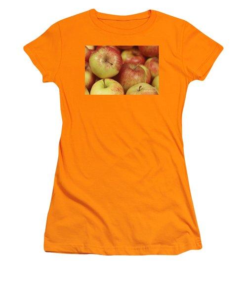 Delicious Apple Fruit Background Women's T-Shirt (Athletic Fit)
