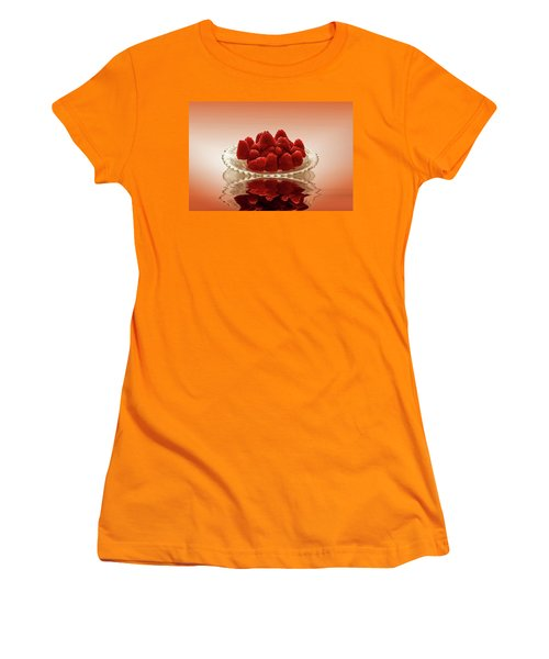 Delicious Raspberries Women's T-Shirt (Junior Cut) by David French