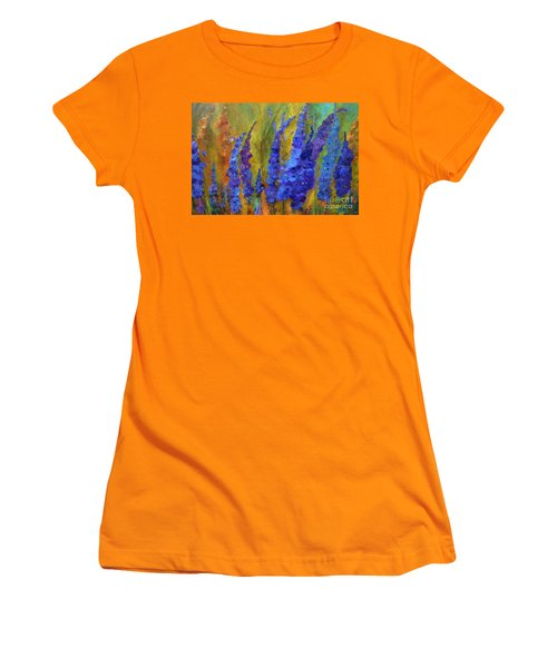 Delphiniums Women's T-Shirt (Athletic Fit)