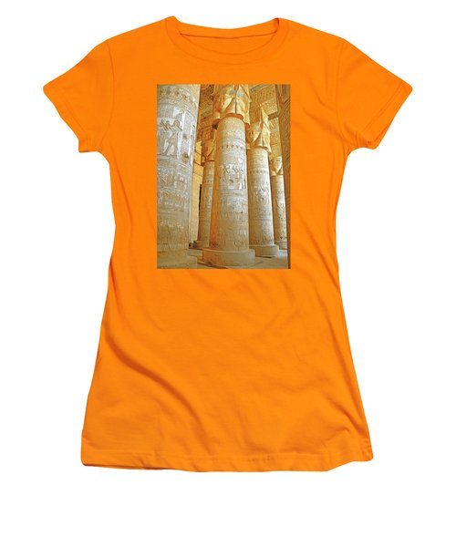 Dendera Temple Women's T-Shirt (Junior Cut) by Nigel Fletcher-Jones
