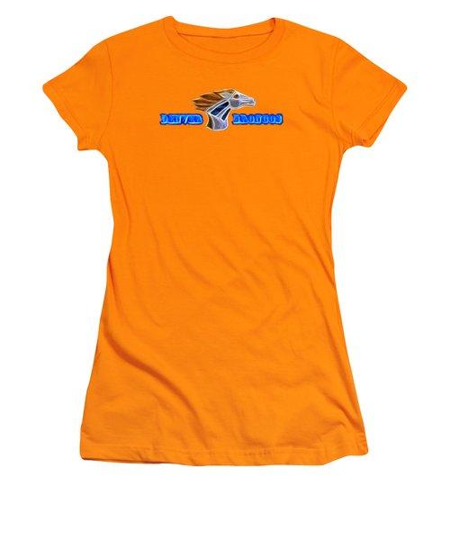 Women's T-Shirt (Junior Cut) featuring the photograph Denver Broncos by Shane Bechler