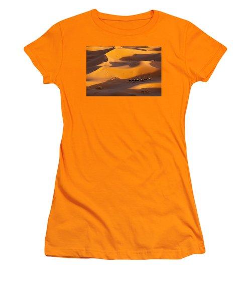 Desert And Caravan Women's T-Shirt (Junior Cut) by Aivar Mikko