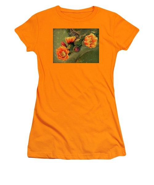 Women's T-Shirt (Junior Cut) featuring the photograph Desert Flame by Lucinda Walter