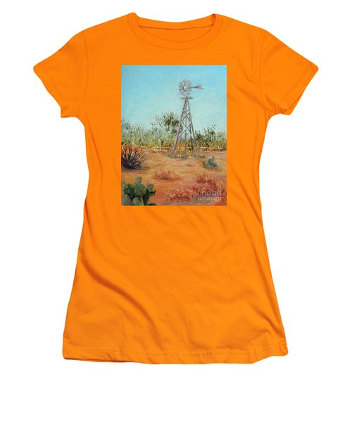Desert Windmill Women's T-Shirt (Athletic Fit)