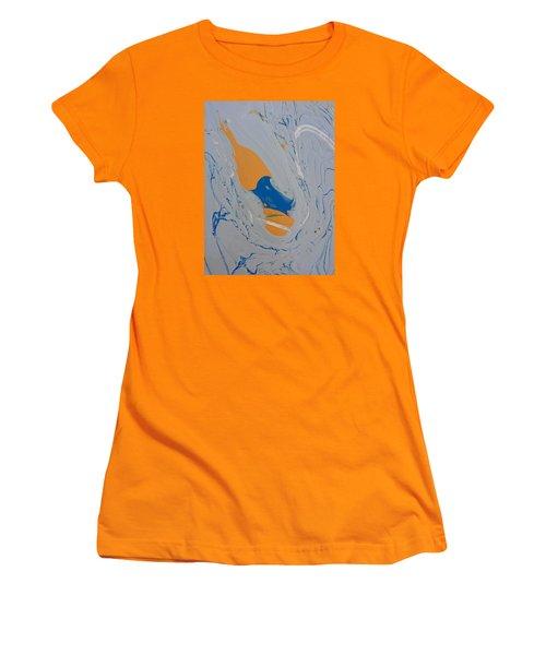 Discarded Pumpkin Core Women's T-Shirt (Junior Cut) by Gyula Julian Lovas