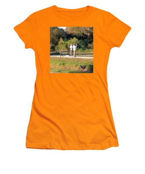 Women's T-Shirt (Junior Cut) featuring the photograph Do You See Any Birds? by Rosalie Scanlon
