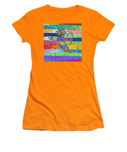Dove Of Peace, Color And Light Women's T-Shirt (Junior Cut) by Jeremy Aiyadurai