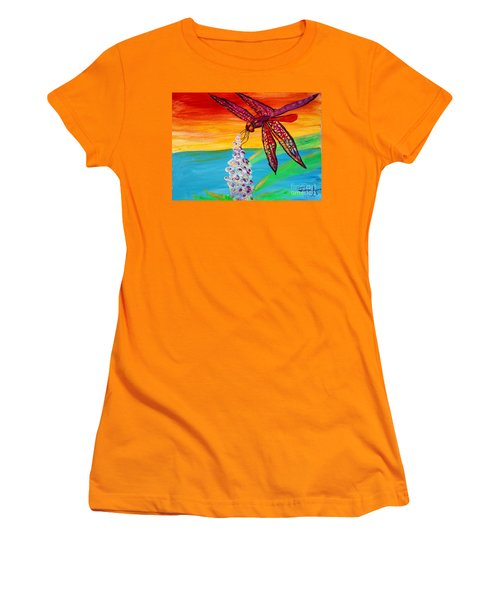 Dragonfly Ecstatic Women's T-Shirt (Athletic Fit)