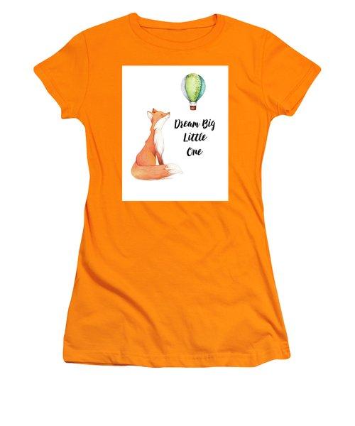 Women's T-Shirt (Junior Cut) featuring the digital art Dream Big Little One by Colleen Taylor