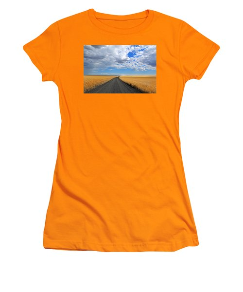 Driving Through The Wheat Fields Women's T-Shirt (Athletic Fit)