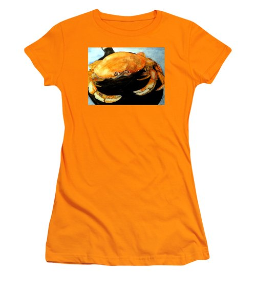 Dungeness For Dinner Women's T-Shirt (Junior Cut) by Carol Grimes